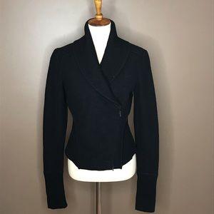 Lafayette 148 New York Black Wool Sweater Jacket